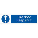 Draper 73104 SS61 Fire Door Keep Shut  Warning Sign Notice