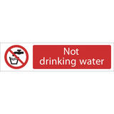 Draper 73160 SS65 Not Drinking Water Prohibition Sign Notice