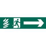 Draper 73164 SS68 Running Man Arrow Right Safety Sign Notice