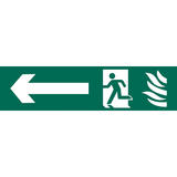 Draper 73165 SS69 Running Man Arrow Left Safety Sign Notice