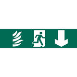 Draper 73201 SS70 Running Man Arrow Down Safety Sign Notice