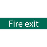 Draper 73213 SS71 Fire Exit Safety Sign Notice