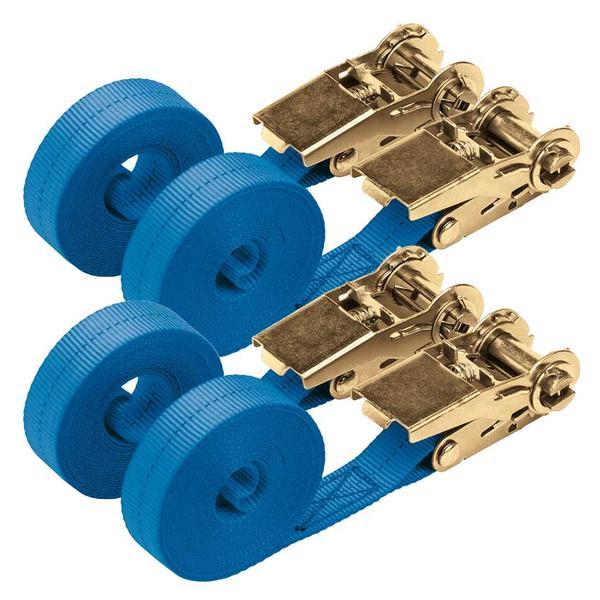 Draper 60968 RTDS400B2/B 4.5M 350Kg Ratchet Tie Down Strap (4 Pack) Thumbnail 1