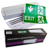 12 x Knightsbridge EMLED1 IP65 6W LED Emergency Bulkhead Light