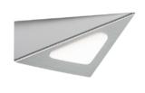 Knightsbridge LEDTRI 12V Dc 3W LED Triangular Cabinet Light - Satin Chrome