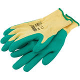 Draper 82603 Green Heavy Duty Latex Coated Work Gloves - Medium