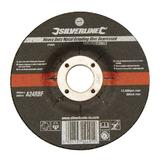 Silverline 274905 Heavy Duty Metal Grinding Disc Depressed 115 x 6 x 22.23mm