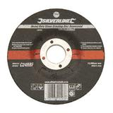 Silverline 275794 Heavy Duty Stone Grinding Disc Depressed 115 x 6 x 22.23mm