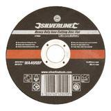 Silverline 276598 Heavy Duty Inox Cutting Disc Flat 125 x 1.2 x 22.23mm