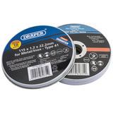 Draper 82831 Tin Of 10 115 X 22.2 X 1.2mm Flat Metal Cutting Wheels