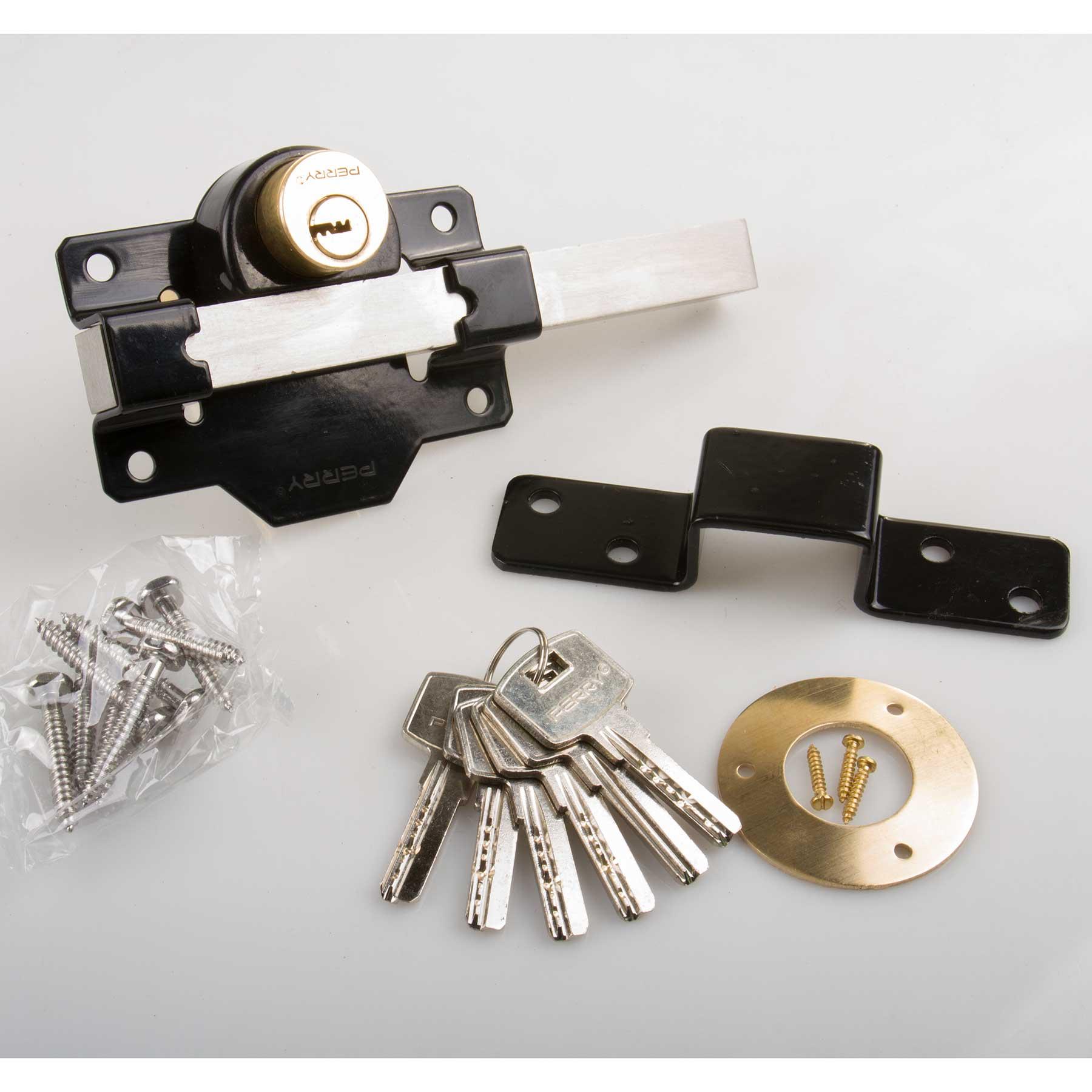 Perry Garden Gate 50mm Rim Long Throw Lock Double Locking Keyed Alike Perry Garden Gate 50mm