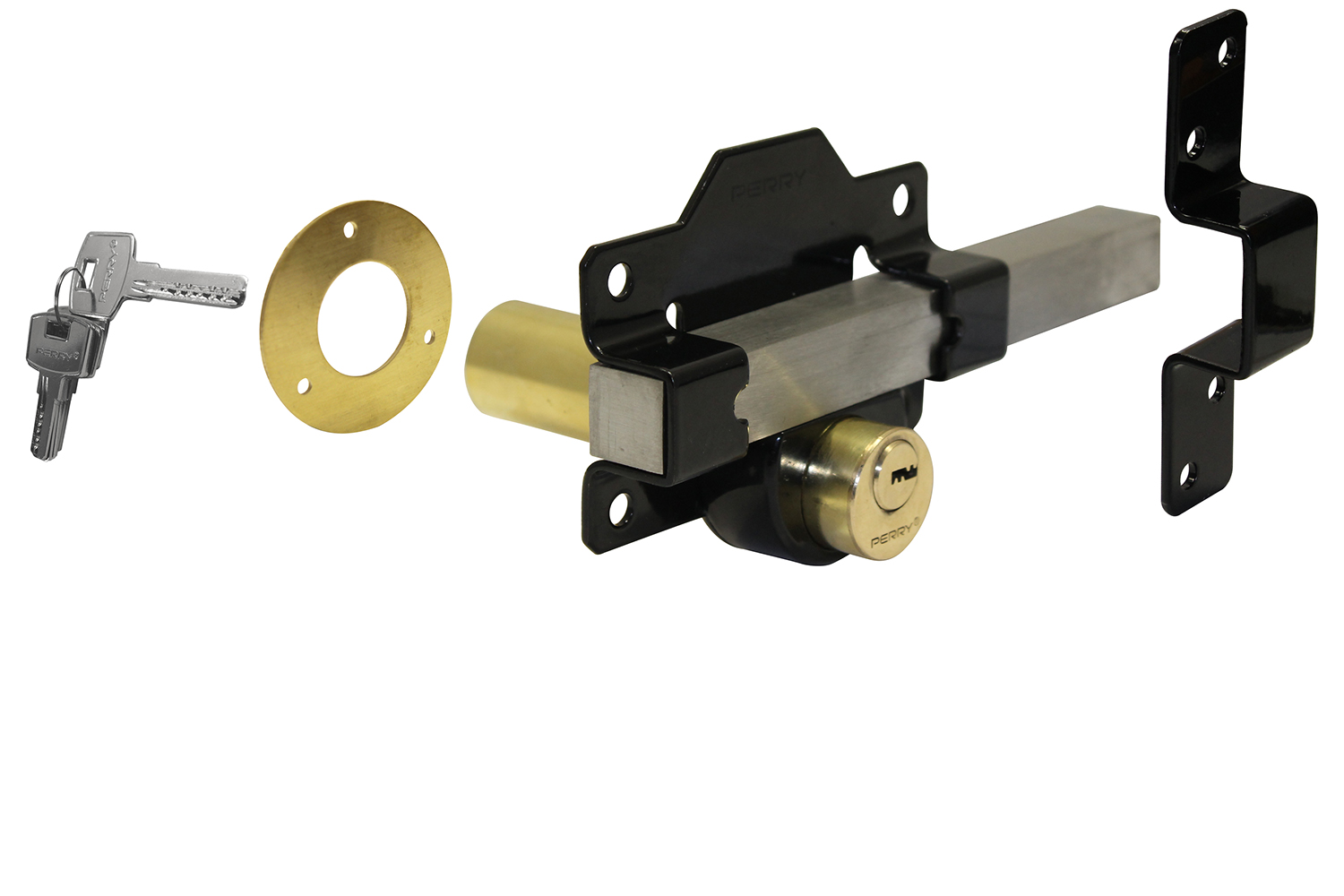 Perry Garden Gate 70mm Rim Long Throw Lock Double Locking