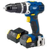 Draper 83685 CHD182VLIA Expert 18V C/less Combi Hammer Drill & 2 Batteries