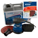 Draper Expert Random Orbit Palm Sander with Ten 400G Sanding Discs