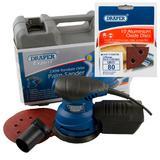 Draper Expert Random Orbit Palm Sander with Ten 80G Sanding Discs
