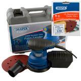 Draper Expert Random Orbit Palm Sander with Ten 120G Sanding Discs