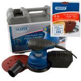 Draper Expert Random Orbit Palm Sander with Ten 180G Sanding Discs
