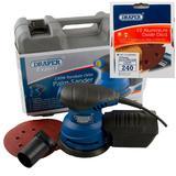 Draper Expert Random Orbit Palm Sander Kit with Ten 240G Sanding Discs