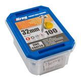 "Kreg SML-C125-100-EUR Zinc Pocket-Hole Screws Washer Head Coarse No.8 x 1-1/4"" 100pk"