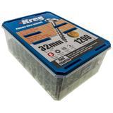 "1200 Kreg SML-C125-1200-EUR Zinc Pocket-Hole Screws Washer Head Coarse No.8 x 1-1/4"""