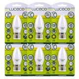 Luceco LED Candle Lamp B22 3.5W 250LM Warm White 2700K (Pack of 6)