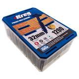 "1200 Kreg No.8 x 1-1/4"" Blue-Kote Pocket-Hole Screws Washer Head Coarse"