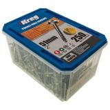 "250 Kreg Zinc Pocket-Hole Screws Washer Head Coarse No.8 x 2"""