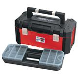Draper 14714 TB585HD 585mm Tool Box with Organisers and Tote Tray