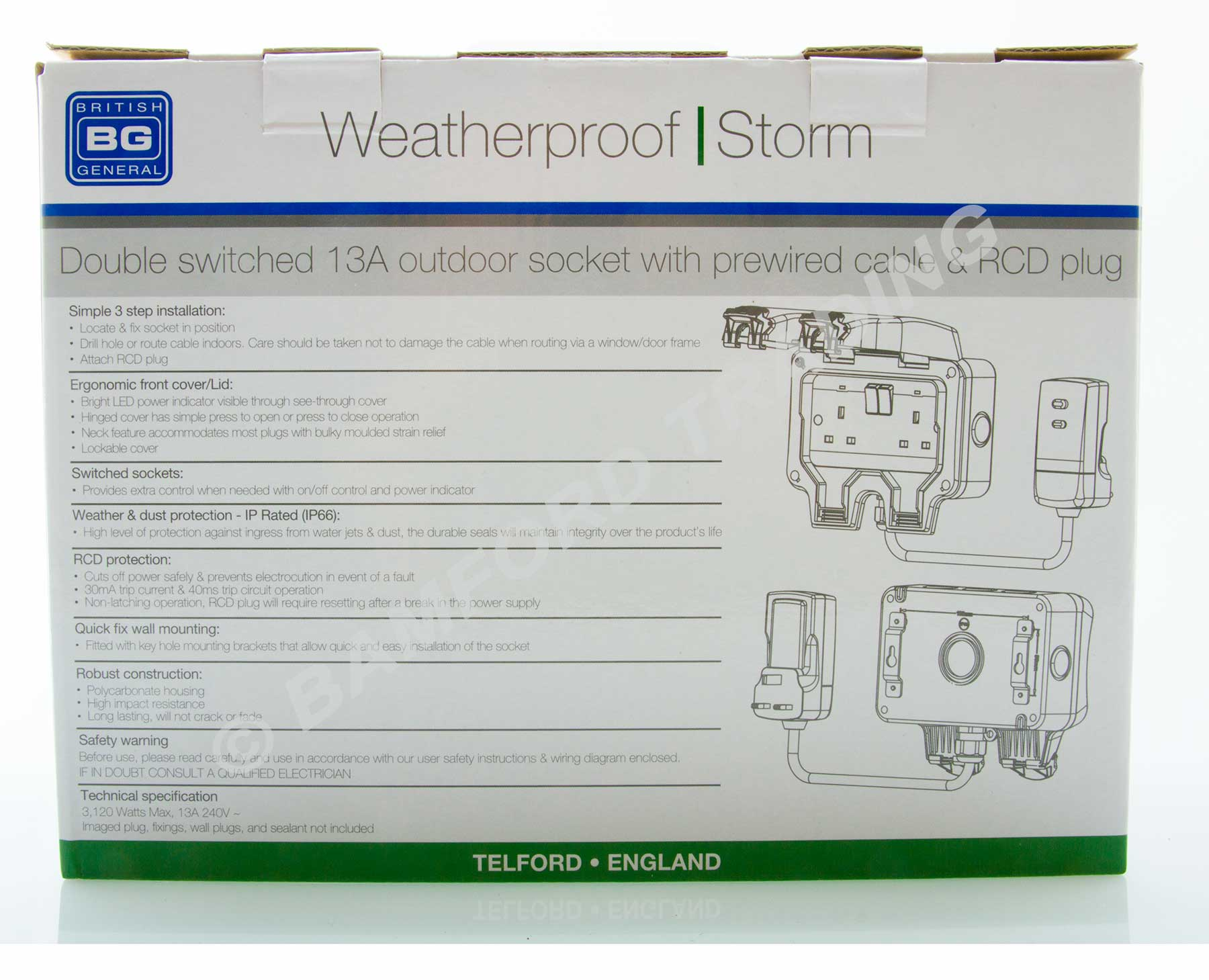 Masterplug Weatherproof Outdoor Mains Power Kit Nexus Wp22kit 3 01 Wiring Diagram Thumbnail 4
