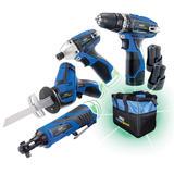 Draper Storm Force 10.8V Drill 4 Pk +3 Batteries & Bag Interchange Ultimate Deal