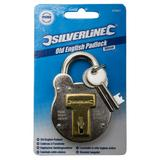 Silverline 376867 Traditional Old English Padlock 50mm