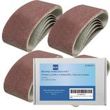 20 Bond Abrasives Sanding Belts For Makita 9911 75mm Belt Sander 120 Grit (Fine)