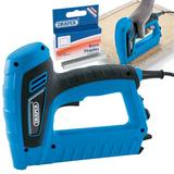 Draper Mains Electric Stapler/Nailer/Tacker Gun Kit & Extra 8mm Staples (1000)