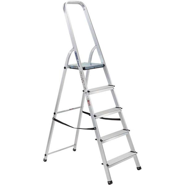 Draper 16825 SL5A Expert 5 Step Aluminium Ladder to EN131 Thumbnail 1