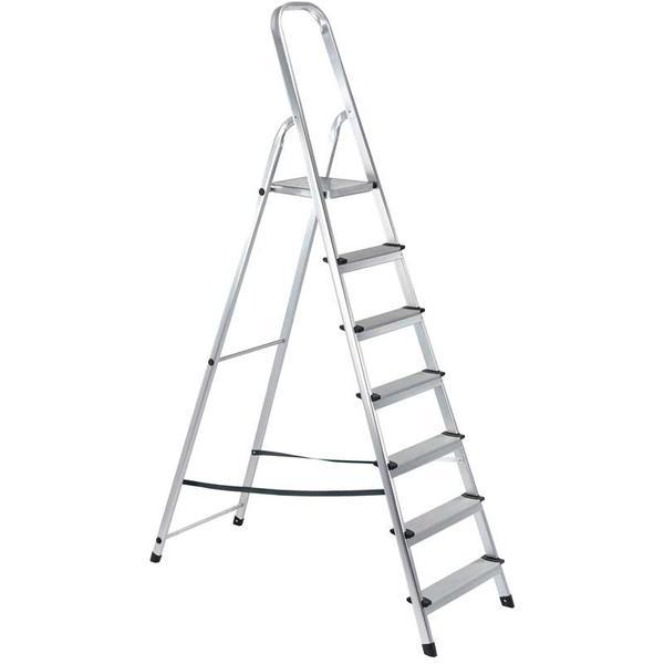 Draper 16826 SL7A 7 Step Aluminium Ladder to EN131 Thumbnail 1