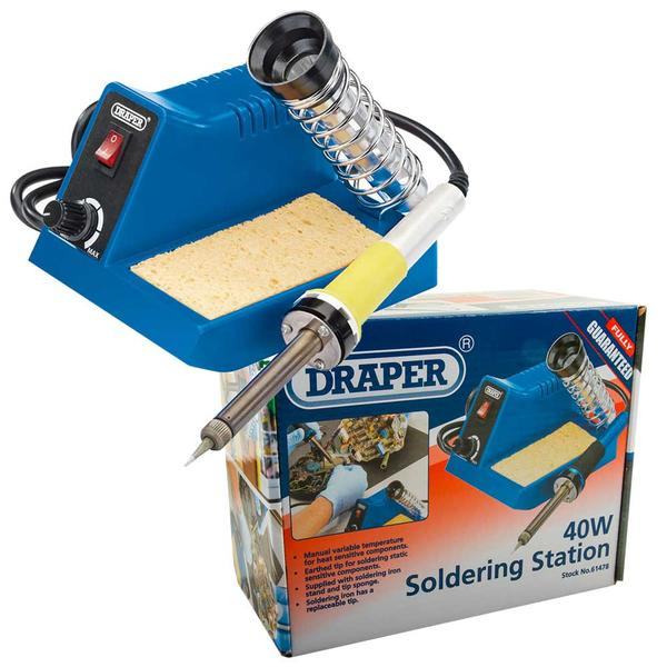 Draper 40W Soldering Station with Universal Clamping Kit Thumbnail 2