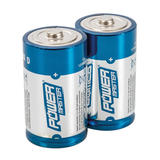 Powermaster 485322 D-Type Super Alkaline Battery LR20 2pk