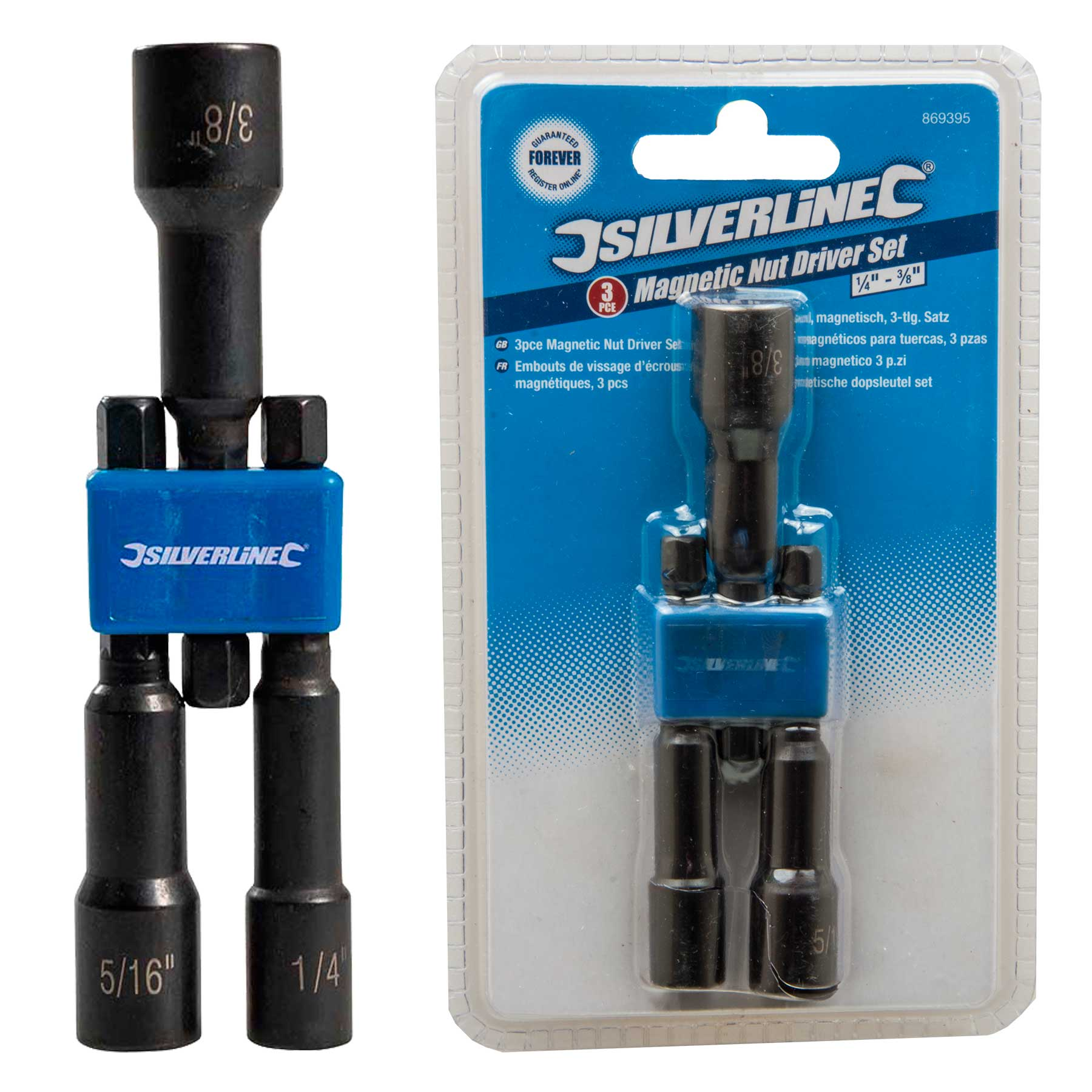 Silverline 969747 Magnetic Nut Driver 13 x 65 mm