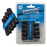 "Silverline 793154 Magnetic Nut Driver Set (9 Piece) 1/4""-1/2"""