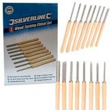 Silverline 303159 Wood Turning Chisel Set (8 Piece)
