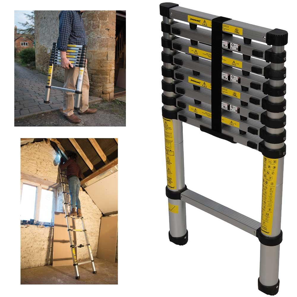 Silverline 452123 Telescopic Aluminium Ladder