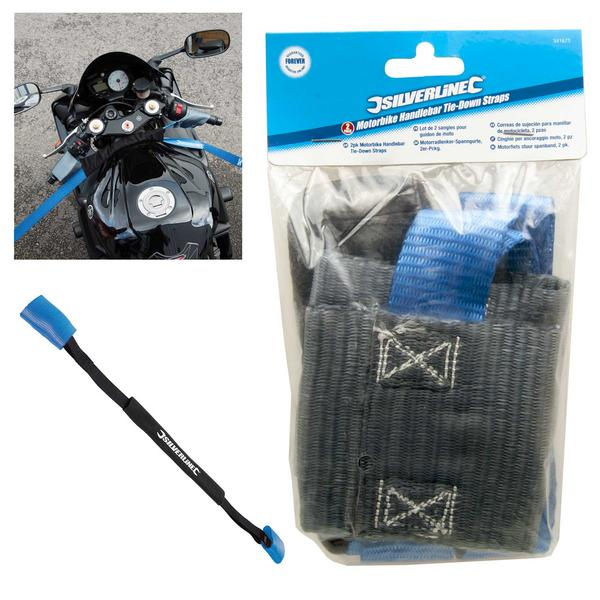 Silverline 341673 Motorbike Handlebar Tie-Down Straps (2 Pack) Thumbnail 1