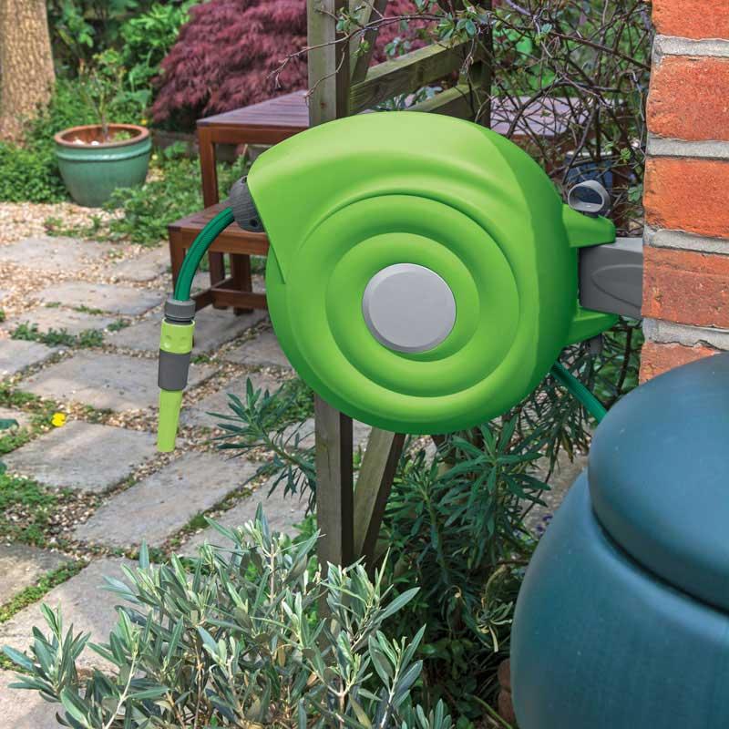 draper 15046 rgh20 retractable garden hose reel 20m thumbnail 2 - Retractable Garden Hose Reel
