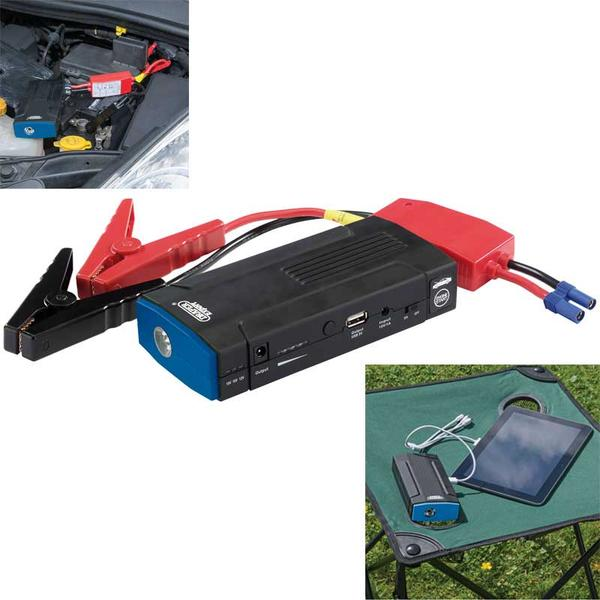 Draper 15067 LJS136 Expert Lithium Jump Starter/USB Charger 500A Thumbnail 1