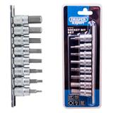 "Draper 16285 D-HEX/8/55 Expert 3/8"" Sq. Dr. Hexagonal Socket Bit Set (8 Pce)"