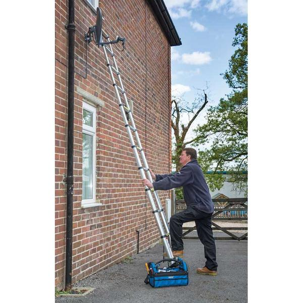 Draper 52366 TL11/A 11 Rung Aluminium Telescopic Ladder To EN131 Thumbnail 2