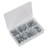 Sealey AB031FN Flange Nut Assortment 390pc M5-M12 Serrated DIN 6923 Metric