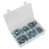 Sealey AB048SS Setscrew Assortment 150pc Metric M5-M10 High Tensile DIN 933
