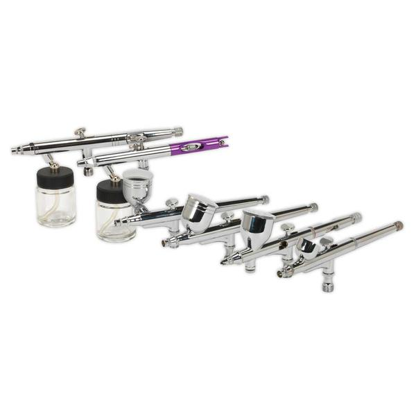 Sealey AB936 Air Brush Kit (10 Piece) Gravity/Suction Feed Thumbnail 2