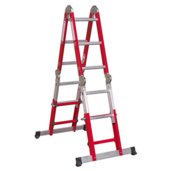 Sealey AFPL2 Aluminium Multipurpose Ladder EN 131 Adjustable Height Thumbnail 6